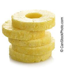 ananas, kromki