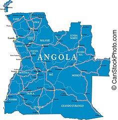 angola, mapa
