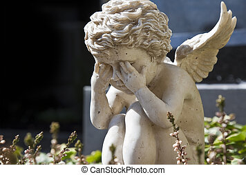 anioł, smutny