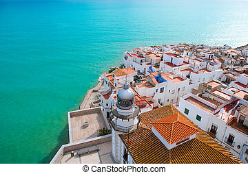 antena, peniscola, castellon, wieś, plaża, hiszpania, prospekt
