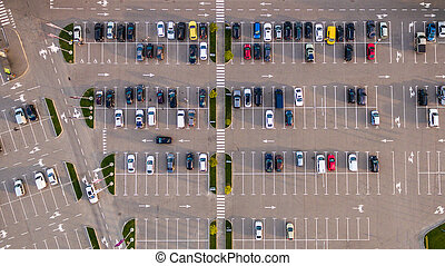 antena, wóz, nad, los, parking, obejrzany, prospekt