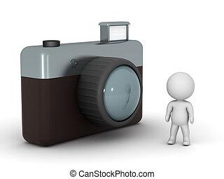 aparat fotograficzny, litera, wielki, 3d, fotografia