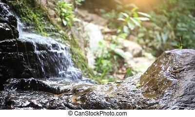 aparat fotograficzny., natura, zmiana, ognisko, wodospad, zmiana, tło, hd., góry., 1920x1080
