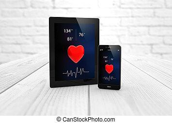 app, smartphone, zdrowie, tabliczka