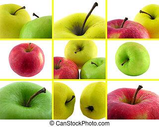 apples., fotografie, komplet