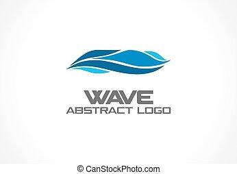 aqua, wir, barwny, ikona, abstrakcyjny, błękitny, wektor, spirala, eco, zdrój, handlowy, company., logo, idea., concept., ocean, logotype, morze, natura, woda, wir, machać