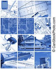 architektura, collage