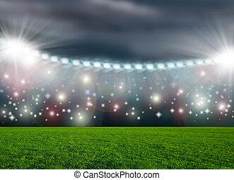 arena, piłka do gry w nogę, zielony, stadion