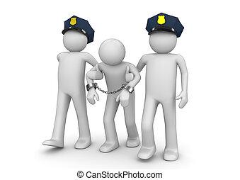 aresztowany, banita, -, prawny, zbiór