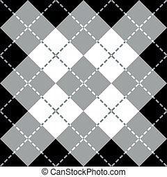 argyle, projektować, gray-white-black