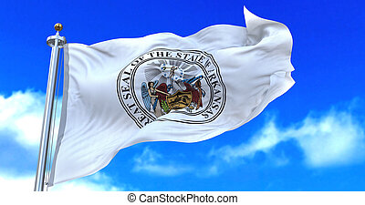 arizona, flag., znak, stan