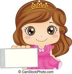 arkada, koźlę, ruchomy, dziewczyna, księżna, gra, ilustracja