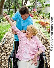 artretyzm, fizyczny, -, terapia