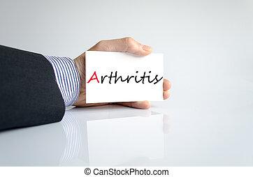 artretyzm, wręczać pisanie