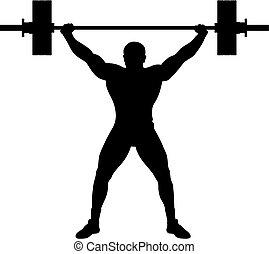 atleta, lifter, ciężar