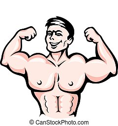 atleta, mięśnie