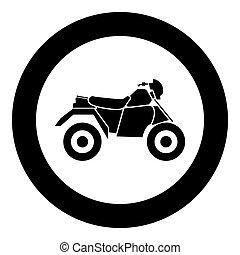 atv, ilustracja, cztery, wektor, czarnoskóry, motocykl, koła, koło, ikona