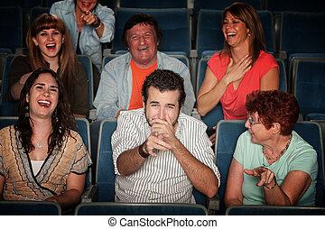 audiencja, śmiech