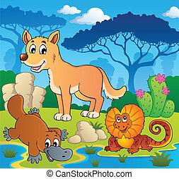 australijski, 2, zwierzęta, temat