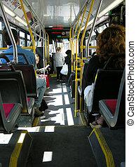 autobus, tranzyt, miasto