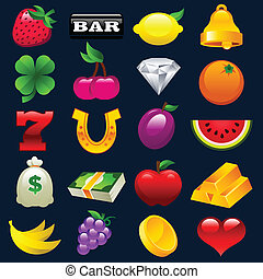 automat, barwny, ikony