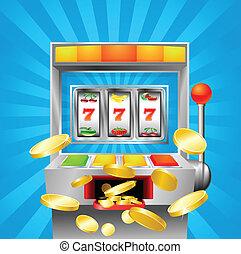 automat, owoc, zwycięski