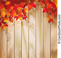autumn odchodzi, drewno, tło, struktura