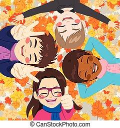 autumn odchodzi, przyjaciele