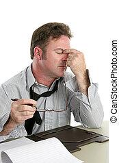 ból głowy, praca