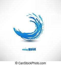błękitna falistość, znak