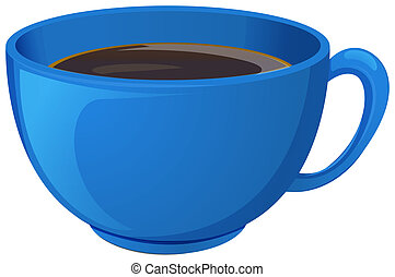 błękitna filiżanka kawy