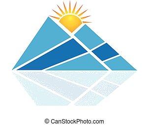 błękitna góra, logo