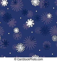 błękitna gwiazda, seamless, marynarka wojenna, wektor, próbka, płatki śniegu, tło.