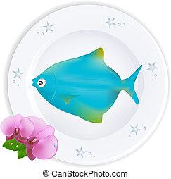 błękitna płyta, fish