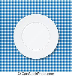 błękitna płyta, tablecloth