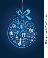 błękitna piłka, boże narodzenie