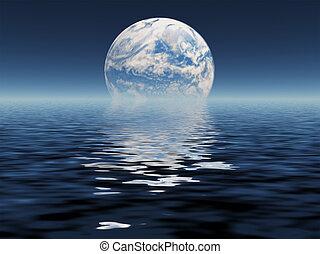 błękitna planeta, zobaczony, odległość