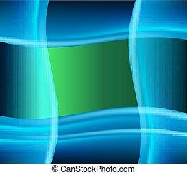 błękitna zieleń, tło, machać