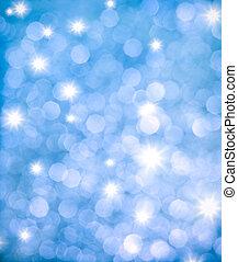 błękitne światła, abstrakcyjny, tło, błyszcząc