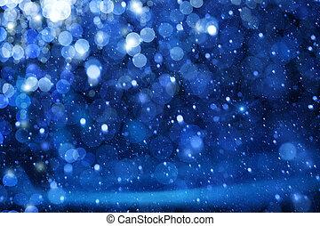 błękitne światła, sztuka, boże narodzenie, tło