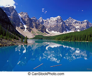 błękitne góry, jezioro