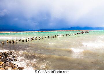 błękitne jezioro, chile, patagonia