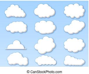 błękitne niebo, chmury, pochmurny