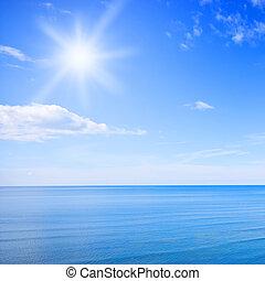 błękitne niebo, ocean