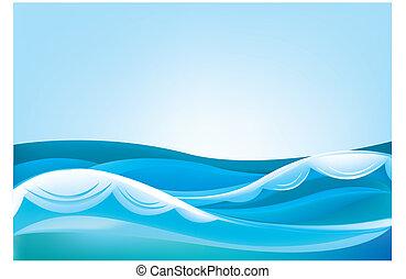 błękitne niebo, transoceaniczna woda