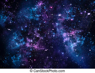 błękitne tło, galaktyka, abstrakcyjny