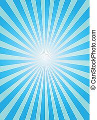 błękitne tło, sunray