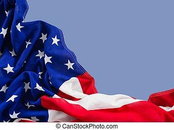 błękitne tło, zatkać się, amerykanka, lekki, bandera