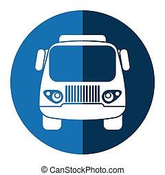 błękitny, ładunek, przewóz, wózek, mały, koło
