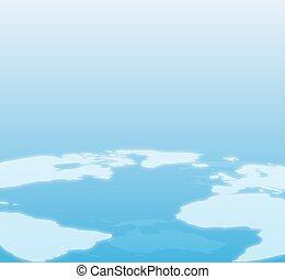 błękitny, świat, tło, mapa